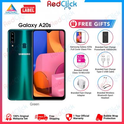 Samsung Galaxy A20s (3GB/32GB) Original Samsung Malaysia Set + 8 Free Gift Worth RM199