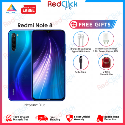 Xiaomi Redmi Note 8 (4GB/64GB) Original Xiaomi Malaysia Set + 4 Free Gift Worth RM 99