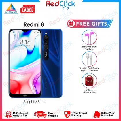 Xiaomi Redmi 8 (4GB/64GB) Original Xiaomi Malaysia Set + 3 Free Gift Worth RM 49