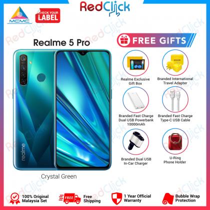 Realme 5 Pro (8GB/128GB) Original OPPO Malaysia Set + 6 Free Gift Worth RM 199