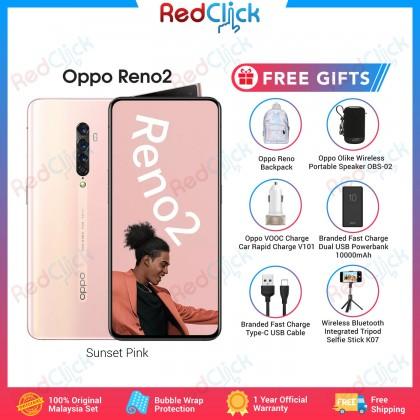 OPPO Reno 2 (8GB/256GB) Original OPPO Malaysia Set + 6 Free Gift Worth RM 259