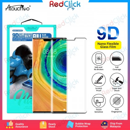 Atouchbo Huawei Mate 30 Pro 9D Full Glue Full Coverage Curved Screen Protector Nano Flexible Glass Film - Shock Proof