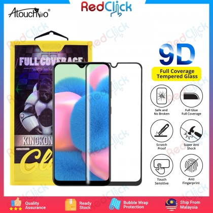 Atouchbo Samsung Galaxy A30s/A50s Full Glue Full Coverage Tempered Glass - Shock Proof