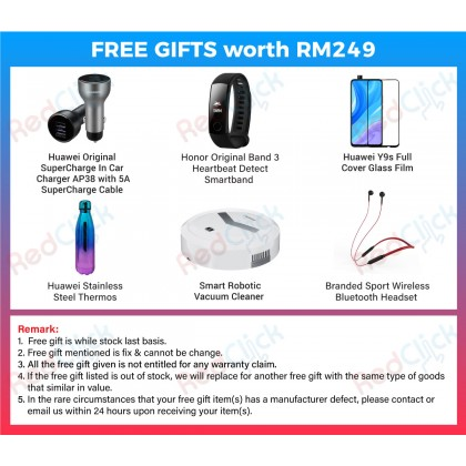 Huawei Y9s (6GB/128GB) Original Huawei Malaysia Set + 6 Free Gift Worth RM 249