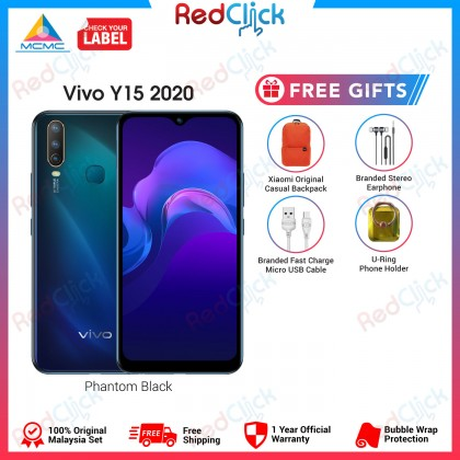 VIVO Y15 2020 (4GB/64GB) Original VIVO Malaysia Set + 4 Free Gift Worth RM109
