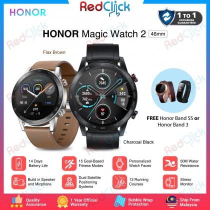 Honor Magic Watch 2 (46mm) Original Honor Malaysia Set + Free Gift