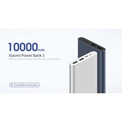 Xiaomi iOT Mi Powerbank 3 (PLM13ZM) 2020 New Model 18W Fast Charge Dual Input Output 10000mAh PowerBank