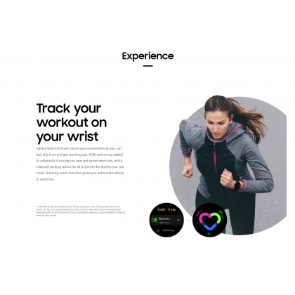 """Samsung Galaxy Watch Active 2 1.4"""" Super AMOLED Display Aluminium /Stainless (r830 /40mm)(r820 /44mm) Bluetooth 5.0 Smart Watch + Free Gift"""