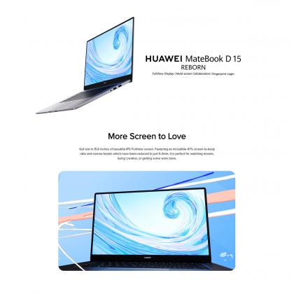 Huawei Matebook D 15 R5 / BOH-WAQ9R (8GB/256GB SSD + 1TB HDD) Original Huawei Malaysia Set + 2 Free Gift Worth RM249