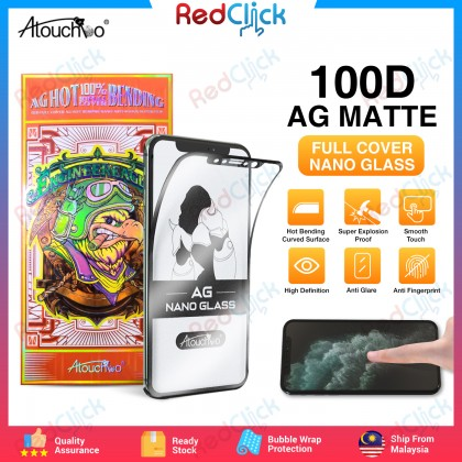 Atouchbo iPhone 11 /iPhone 11 Pro /iPhone 11 Pro Max 100D Full Cover AG HOT Bending Matte Surface Nano Anti Shock Super Film