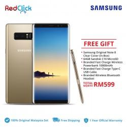 Samsung Galaxy Note 8 / n950f (6GB/64GB) Original Samsung Malaysia Set + 5 Free Gift Worth RM599