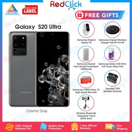 Samsung Galaxy S20 Ultra 5G /g988b (12GB/128GB) Original Samsung Malaysia Set + 7 Free Gift Worth RM709