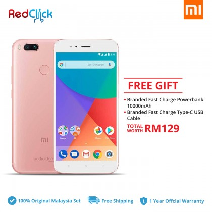 Xiaomi Mi A1 (4GB/64GB) Original Xiaomi Malaysia Set + 2 Free Gift Worth RM129