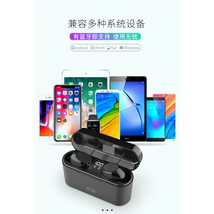 SOAIY A1s Bluetooth 5.1 Wireless Earbuds with Charging Case TWS Stereo Sound with IPX7 Waterproof Smart Control for iPhone Android Phone