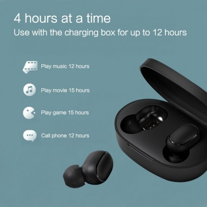 Xiaomi Mi True Wireless Earbuds Basic S /TWSEJ05LS support Gaming Mode no delay Bluetooth 5.0 with charging case Global Version