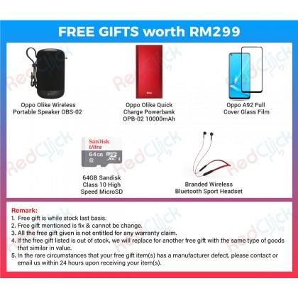 OPPO A92 (8GB/128GB) Original OPPO Malaysia Set + 5 Free Gift Worth RM 299