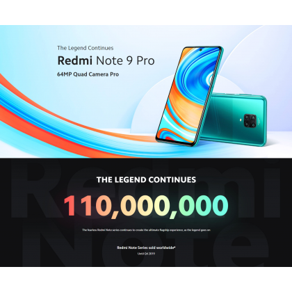 Xiaomi Redmi Note 9 Pro (6GB/128GB) Original Xiaomi Malaysia Set + 7 Free Gift Worth RM169