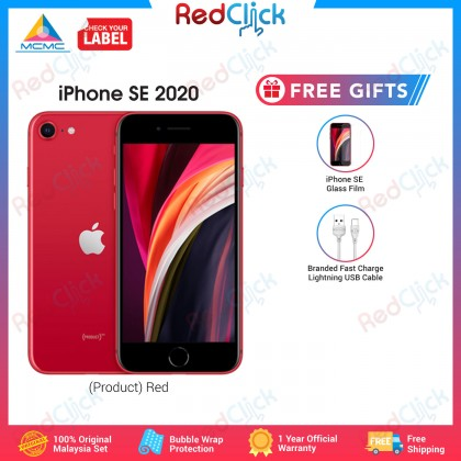 Apple iPhone SE 2020 (64GB/128GB/256GB) Original Apple Malaysia Set + 2 Free Gift Worth RM49