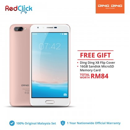 Ding Ding X8 (2GB/16GB) Original DingDing Malaysia Set + 2 Free Gift Worth RM 84