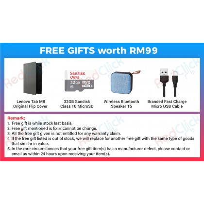Lenovo Tab M8 /tb-8505x (2GB/32GB) Original Lenovo Malaysia Set + 4 Free Gift Worth RM99