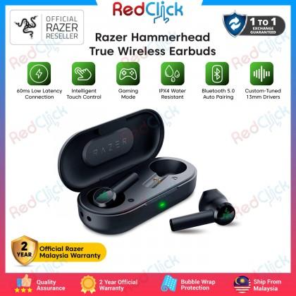 Razer Hammerhead True Wireless Earbuds RZ12-0297 BT 5.0 Low Latency Gaming No Delay 2 Year Official Razer MY Warranty