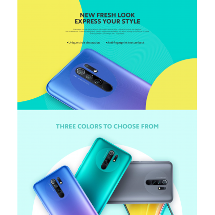 Xiaomi Redmi 9 (4GB/64GB) Original Xiaomi Malaysia Set + 4 Free Gift Worth RM49