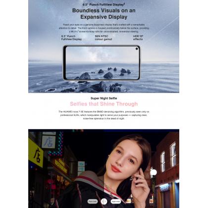 Huawei Nova 7 SE 5G (8GB/128GB) Original Huawei Malaysia Set + 4 Free Gift Worth RM1188