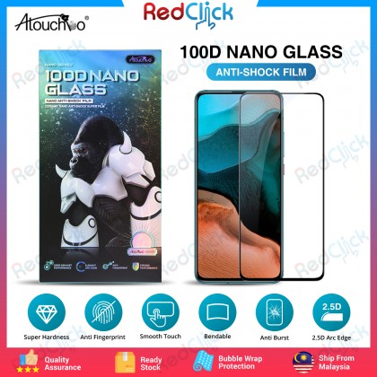 Atouchbo Poco F2 Pro /K30 Pro 100D Elegant Arc Edge Nano Anti-Shock Glass Film