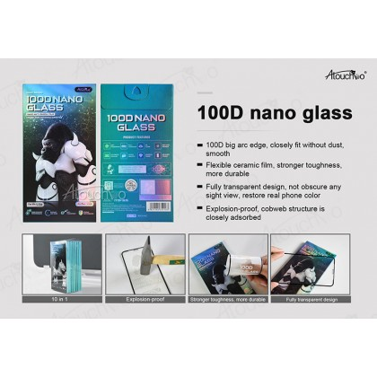 Atouchbo OPPO 3 Pro / Realme X50 Pro 100D Elegant Arc Edge Nano Anti-Shock Glass Film