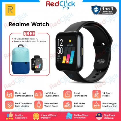 """Realme Watch 3.5cm (1.4"""") Display Large Color Touchscreen 24/7 Health Assistant 14 Sports Modes with Smart Notifications + 2 Free Gift"""