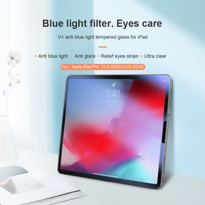 Nillkin Apple iPad Pro 12.9 2021/2020/2018 V+ Anti Blue Light Filter Eyes Care 9H Anti-Explosion Tempered Glass