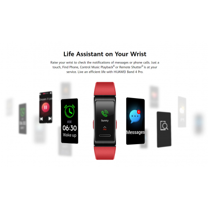 """Huawei Band 4 Pro (ter-b19s) 0.95"""" AMOLED Color Full Screen Touch Built-in GPS 24/7 Heart Rate Original Huawei Product"""