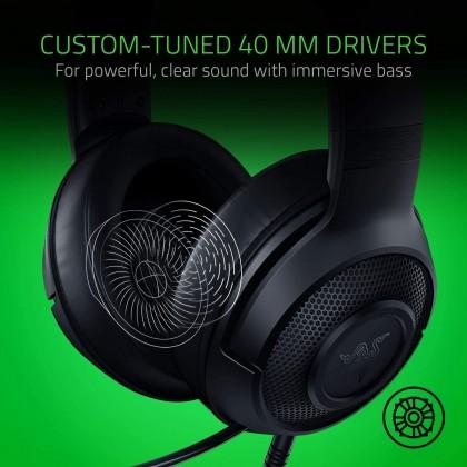 Razer Kraken X Wired Gaming Headset Ultra Light Comfort Heavy Bass 7.1 Surround Sound Bendable Cardioid Microphone