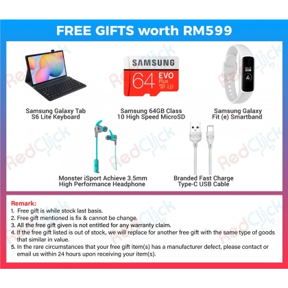 "Samsung Galaxy Tab S6 Lite 10.4"" with S-Pen /SM-P610 (4GB/64GB) WiFi only Original Samsung Malaysia Set + 5 Free Gift Worth RM599"