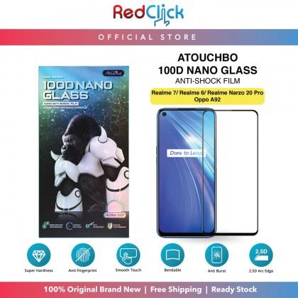 Atouchbo Realme 7/realme6/Realme Narzo 20Pro/Oppo A92 100D Elegant Arc Edge Nano Anti-Shock Glass Film