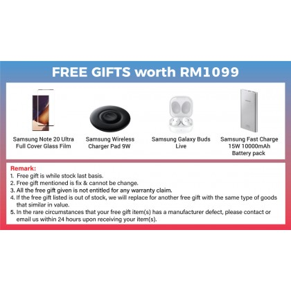 Samsung Galaxy Note 20 Ultra 5G / N968b (12GB/256GB) Original Samsung Malaysia Set + 4 Free Gift Worth RM1099