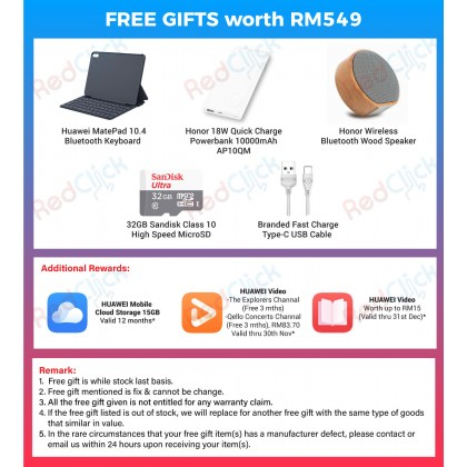 "Huawei Matepad 10.4"" (Wi-Fi)/BAH3-W09 (4GB/64GB) Original Huawei Malaysia Set + 5 Free Gift Worth RM549"