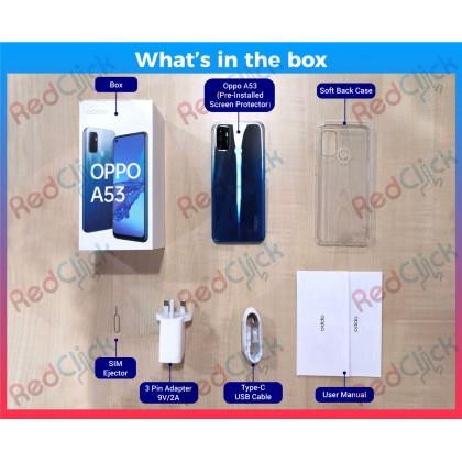 OPPO A53 (4GB/64GB) Original OPPO Malaysia Set + 5 Free Gift Worth RM149