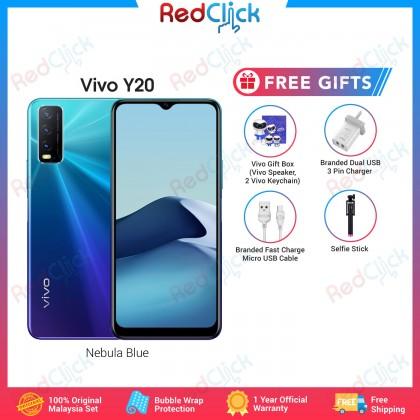 VIVO Y20 (4GB/64GB) Original VIVO Malaysia Set + 4 Free Gift Worth RM99