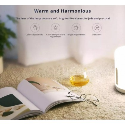Xiaomi Mi Bedside Lamp 2 /MJCTD02YL Support Google Assistant Apple Homekit Adjustable Color Touch Interaction Color Temperature 1700-6500k Global version