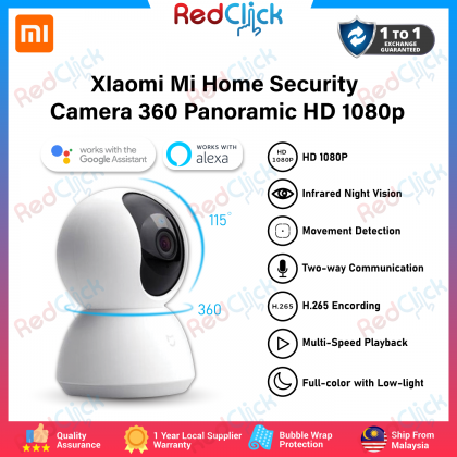 XIaomi Mi Home Security Camera 360° Panoramic HD 1080p /MJSXJ05CM Support Google Assistant Full Color with Low-Light Global Version