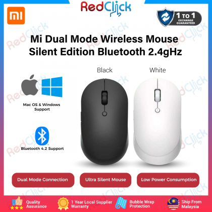 Xiaomi Mi Dual Mode Wireless Mouse Silent Edition 1300 DPI Bluetooth + Dongle Global Version