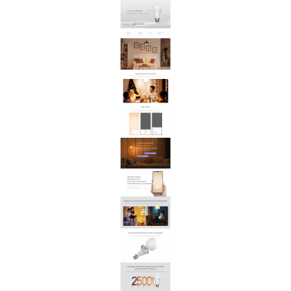Xiaomi Mi Smart LED Bulb (warm white) 8W Color Temperature 2700k Support Google Assistant E27 Lamp Fitting