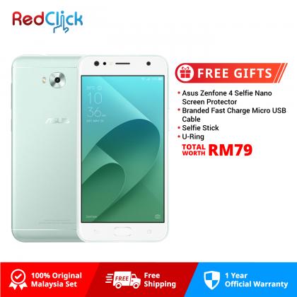 Asus Zenfone 4 Selfie / ZD553KL (4GB/64GB) Original Asus Malaysia Set + 4 Free Gift Worth RM79