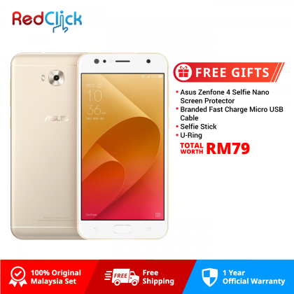 Asus Zenfone 4 Selfie / ZD553KL (4GB/64GB) Original Asus Malaysia Set + 4 Free Gift Worth RM79