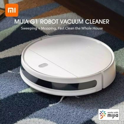 Xiaomi Mi Robot Vacuum Mop Essential G1 (white)/MJSTG1 2200Pa Powerful Suction Mi Home App Smart Control All-In-One Cleaner
