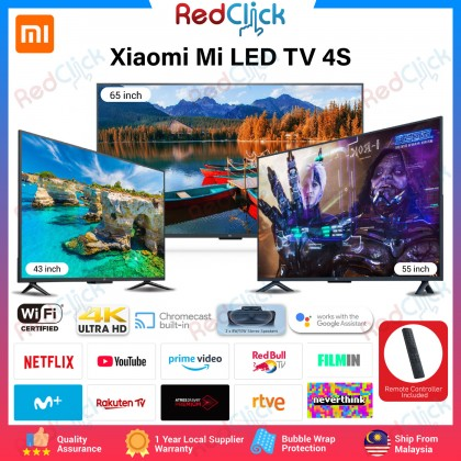 """Xiaomi Mi TV 4s 43"""" / 55'' / 65"""" 4K Ultra HD Android TV HDR Motion Smooth Dolby Audio Global Version"""