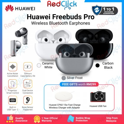 Huawei Freebuds Pro /T0003 support ANC Wireless Charging Dual Device Connection Original Huawei Malaysia Set + Free Gift