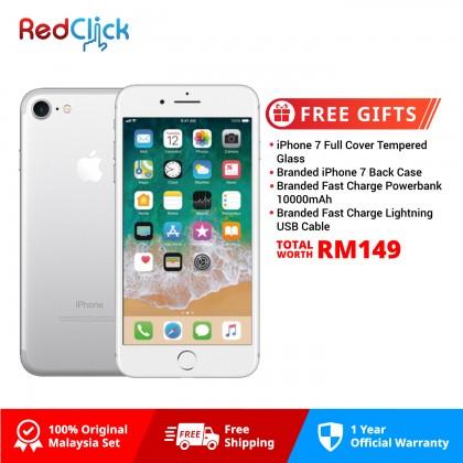 Apple iPhone 7 128GB LTE Original Apple Malaysia Set + 4 Free Gifts Worth RM149