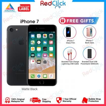 Apple iPhone 7 128GB LTE Original Apple Malaysia Set + 4 Free Gifts Worth RM99